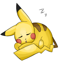 Sleeping Pikachu
