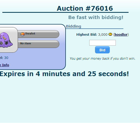 Pokémon Auction House